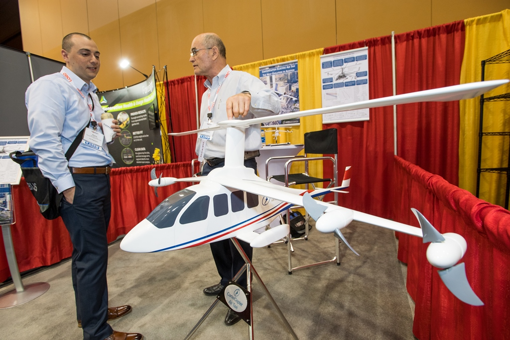 Carter Aviation Technologies displays its Air Taxi at the VFS's Annual Forum 74 (2018)