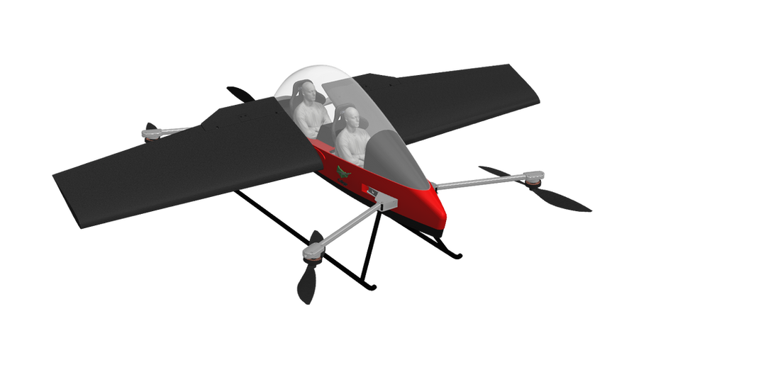 Colugo aircraft with wings extended