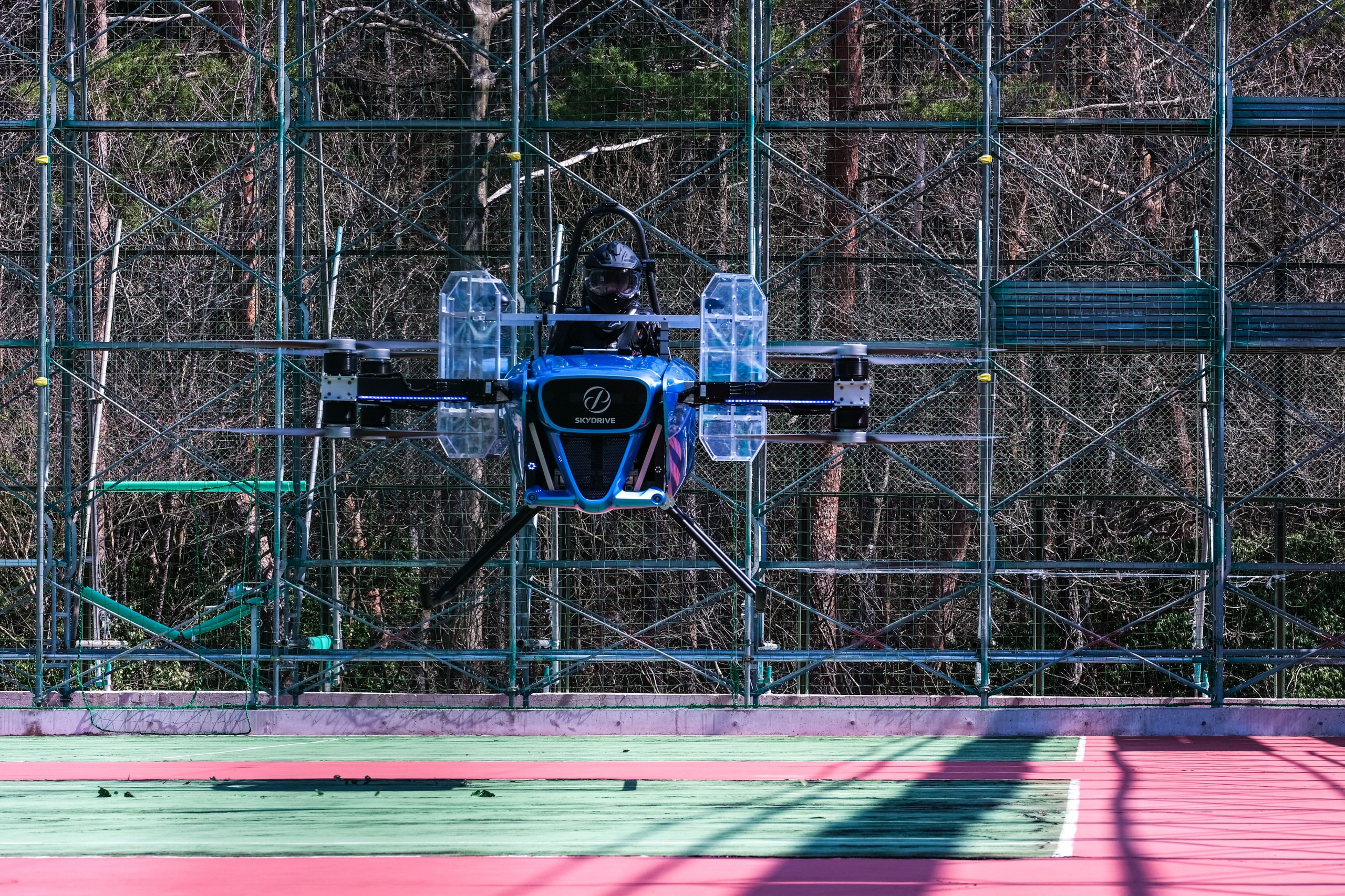 SkyDrive SD-02 eVTOL aircraft flight test.