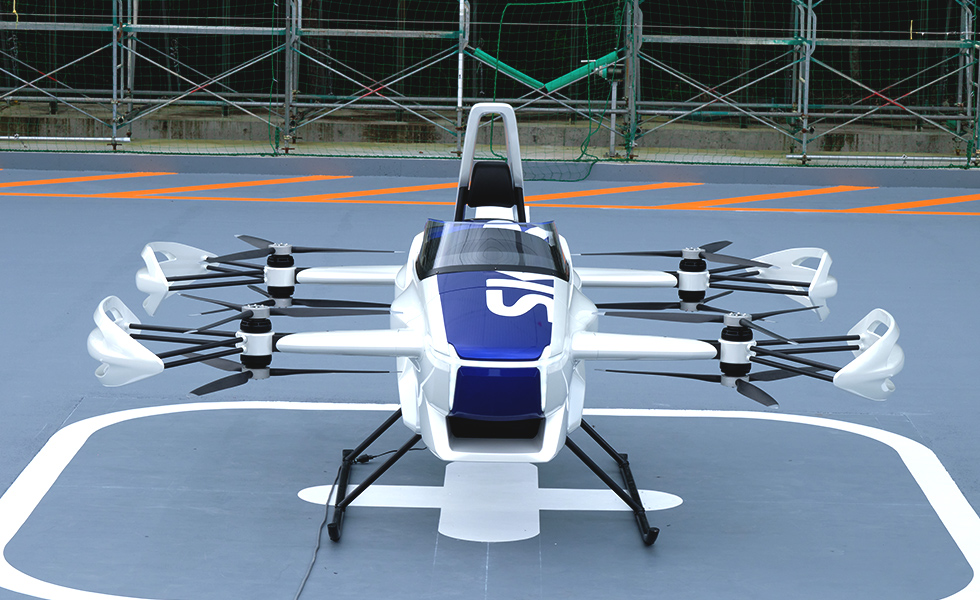 SkyDrive SD-03 front view.