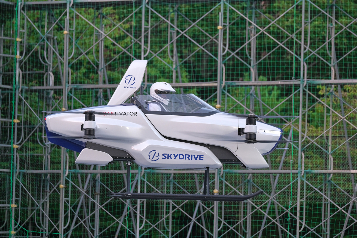 SkyDrive SD-03 first public flight.