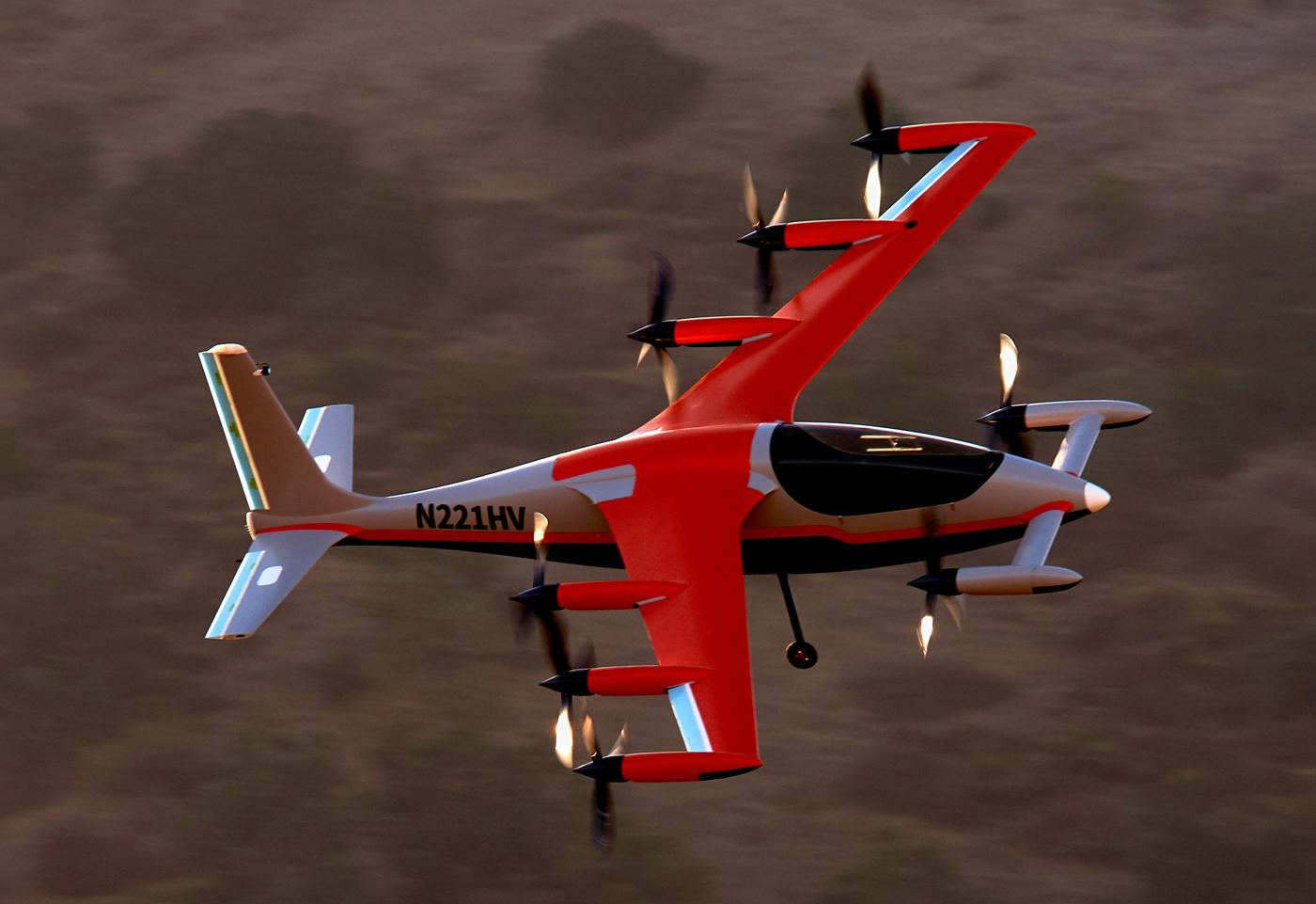 https://evtol.news/__media/Aircraft%20Directory%20Images/Kitty%20Hawk%20Heaviside/Kitty-Hawk-eVTOL-Heaviside-in-flight-USA-1.jpg