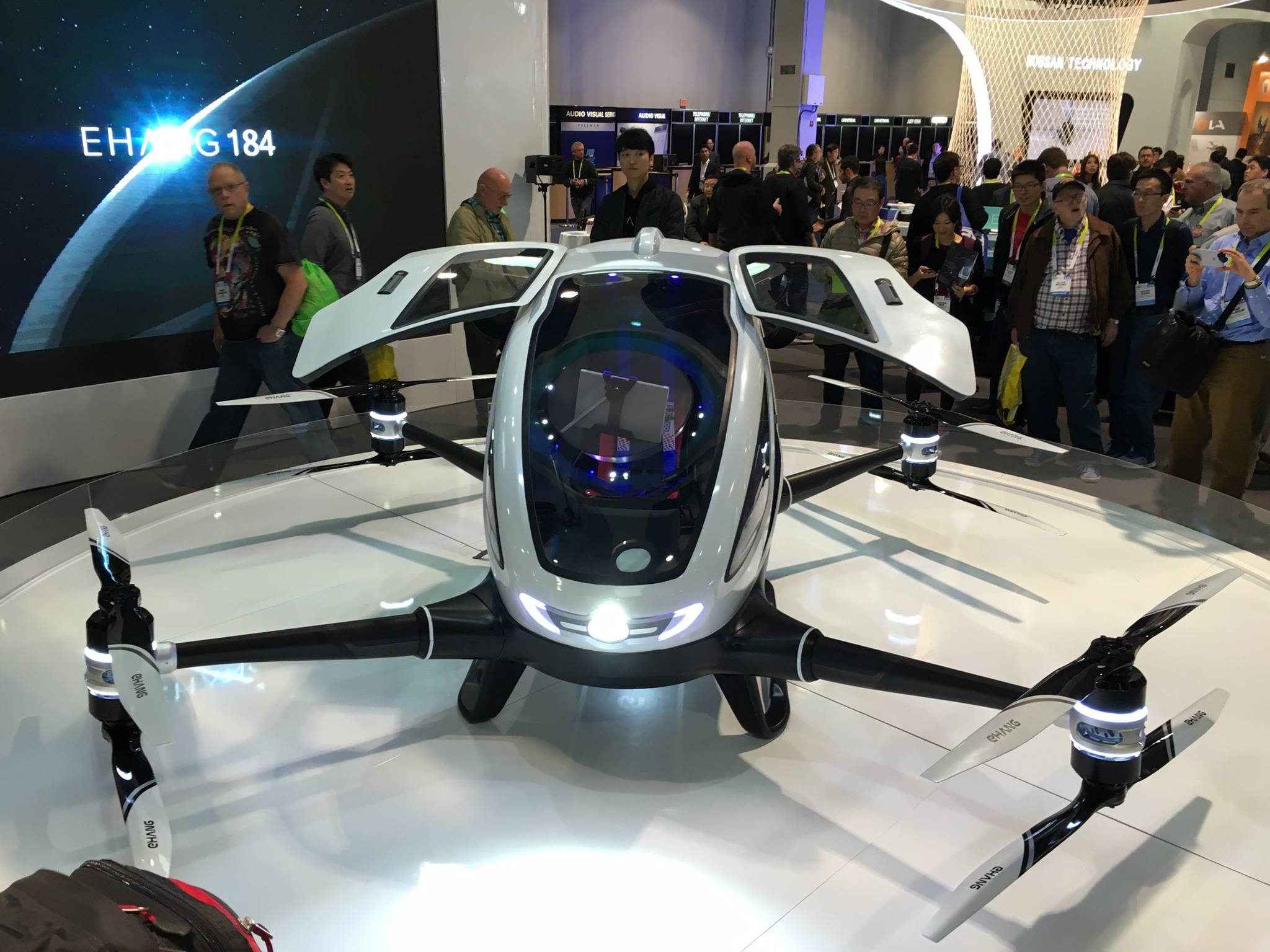 EHang stunned the public conscious with the unveiling of the EHang 184 air taxi at CES 2016.