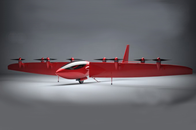 Joby Aviation Monarch. The first eVTOL aircraft design by Joby. USA , 2013.