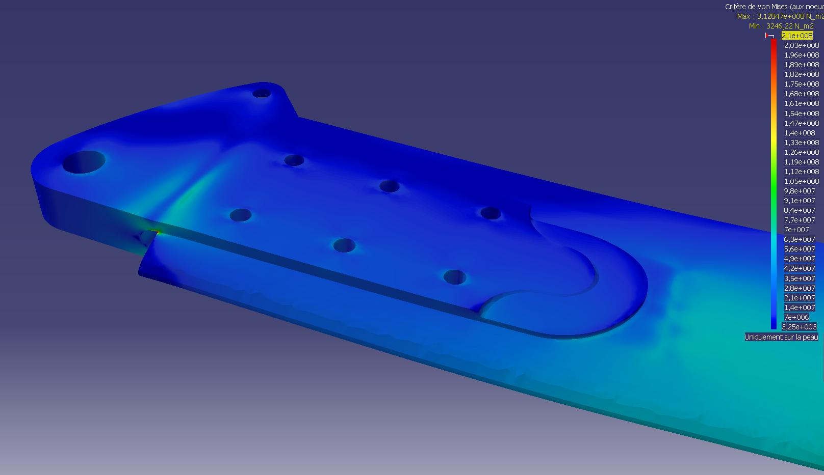 FEA of blade retention plates