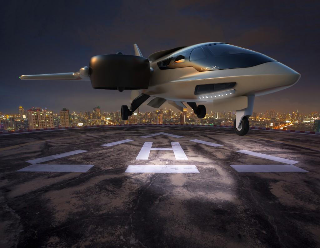 XTI-TriFan 600 rooftop dawn